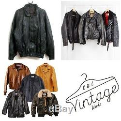 10 Men's Vintage Real Leather Coats Jackets Grade A/b Wholesale Clothing Job Lot