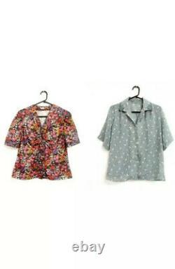 100 Vintage Blouses/shirts Womans Wholesale Loblot Clothing Grade A/B