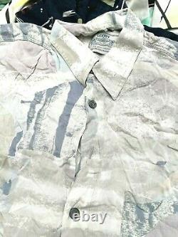 100 x CRAZY PRINT SHIRTS GRADE A/B ABSTRACT RETRO 90s 00s WHOLESALE JOBLOT