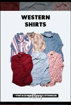 100 x Western Style Shirts A+B Grade mix Wholesale Job Lot