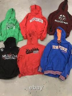 18 Wholesale Vintage US American Hoodies Sweats Grade A Mix Bulk Job Lot