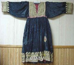 1920s museum grade antiqu tribal dress gold thread embroidery central Asia 42325