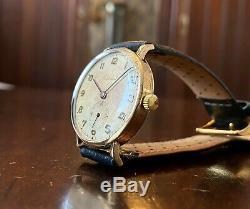 1948 9ct gold Cortebert dress watch, high grade cal 665 movement