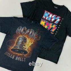 20 x GRADE A VINTAGE ROCK/BAND/MUSIC TEES WHOLESALE MIX BULK JOB LOT RETRO