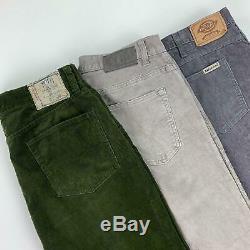 25 x GRADE A/B BRANDED CORDUROY PANTS RALPH CALVIN DICKIES WHOLESALE JOB LOT