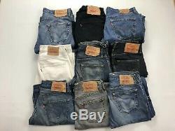 25 x Pairs Grade B Wholesale Levis 501 Vintage Jeans Job Lot Jeans GRADE B