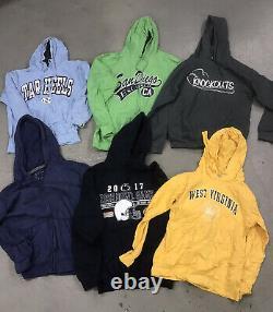 28 Wholesale Vintage US American Hoodies Sweats Grade A Mix Bulk Job Lot