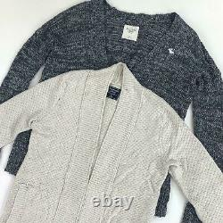 30 x GRADE A ABERCROMBIE & FITCH KNITWEAR WHOLESALE JOB LOTS JUMPERS CARDIGANS