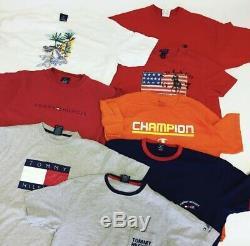 30X Mens Branded Tshirts Wholesale Job Lot Bundle Vintage Clothing Grade A + B