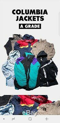 40 X Columbia Jackets A Grade Wholesale Job Lot Bundle