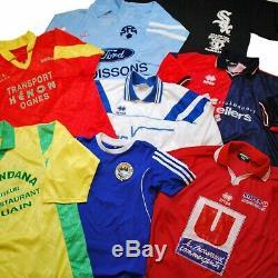40 x Vintage/Modern Mix Branded Tees + Football Shirts Jerseys Grade A/B