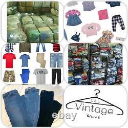 50 CHILDREN'S CLOTHING GRADE A BUNDLE JOB LOT WHOLESALE kids boys & girls