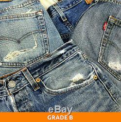 50 x Pairs Grade B Wholesale Levis 501 Vintage Jeans Job Lot Jeans GRADE B