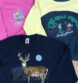 50 x UNBRANDED 80s 90s VINTAGE PRINTED SWEATSHIRTS WHOLESALE GRADE A JOB LOT