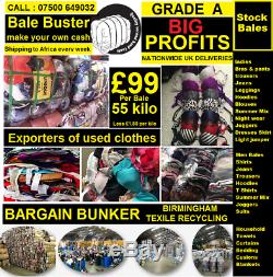 55 kilo bales Used grade A MEN, LADIES, OR KIDS, CLOTHES READY FOR EXPORT