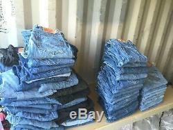60 x Pairs Grade B Wholesale Levis 501 & 505 Vintage Denim Jeans Job Lot