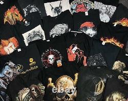 80 x Vintage/Modern Biker/Gothic/Music/Tattoo Graphic T-Shirt Mix Grade A/B