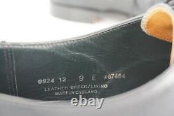 $895 Crockett & Jones 10 D Uk 9 E Black 2 Eyelet Derby Hand Grade Skyfall Bond