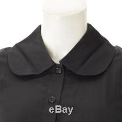 AUTHENTIC CELINE Short Sleeve Button Dress Black SIZE 36 GRADE AB USED MD