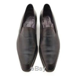 Authentic Berluti Men's Leather Loafers Dress Shoes Dark Navy 9 Grade Ab Used-at