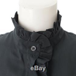 Authentic Celine Sleeveless Frill Long Dress Navy Grade B Used At