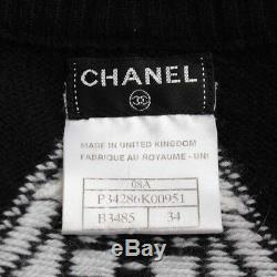 Authentic Chanel Cashmere Knit Dress P34286k00951 Black Grade A Used At