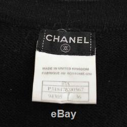 Authentic Chanel Coco Emblem Knit Dress Black Grade B Used At