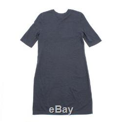 Authentic Chanel Emblem Knit Dress Navy Grade B Used At