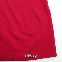 Authentic Chanel Emblem Knit Dress Red Grade Ab Used At