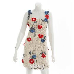 Authentic Chanel Flower Embroidered Cloche Dress P38443k02631 Grade B Used At