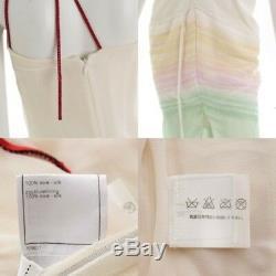 Authentic Chanel Ice Cream Dress Fringe Cream Multi Color Grade Bc Used At