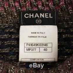 Authentic Chanel Knit Flare Dress Multi Color Grade Ab Used At