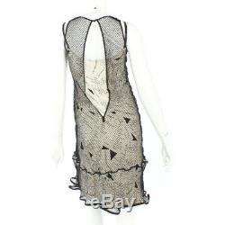 Authentic Chanel Print Mesh Dress Beige Grade B Used At