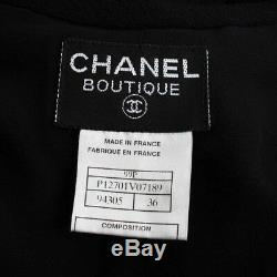 Authentic Chanel Vintage Dress Black Grade Ab Used At