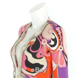 Authentic Emilio Pucci Kaftans Tunic Dress 11rm21 Orange Grade A Used At