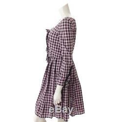 Authentic Prada Cotton Checkered Dress Black & Pink 36 Grade Ab Used HP