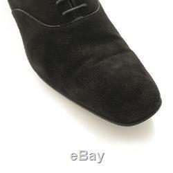 Authentic Prada Mens Suede Dress Shoes Black 6 1/2 Grade B Used -hp