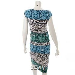 Authentic Tory Burch Sleeveless Dress Blue Green Grade A Used At