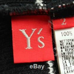 Authentic Yohji Yamamoto S Striped Asymmetry Knit Dress Black Grade B Used -at