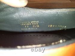 Barrie Ltd. Custom Grade Brown Shell Cordovan Plain Toe Blucher Size 12 C/A USA