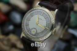 C. 1935 ELGIN Art Deco Grade 487 17j Adjusted Gold Filled Dress Watch