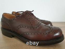CHURCH'S Custom Grade Amersham Brown Wingtip Oxfords Made in England Size US 7