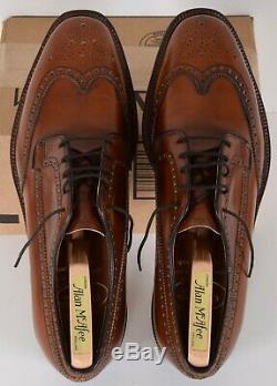 CHURCH'S Custom Grade Grafton Brogue Brown Dress Shoes 11 D Made in England
