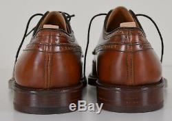 CHURCH'S Custom Grade Grafton Brogue Brown Dress Shoes 11 D US Made in England