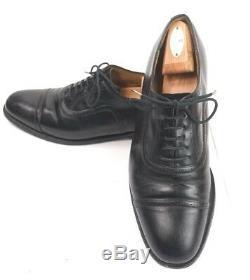CHURCH'S Dress Shoes Mens 10 D Custom Grade Chanmouth Black Cap Toe Oxford