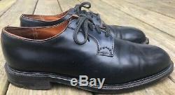 CHURCH's Custom Grade Black Shell Cordovan Plain Toe Bluchers Size UK 10 US 11