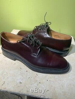 CHURCH's Custom Grade Burgundy Cordovan Plain Toe Bluchers Size 10 C