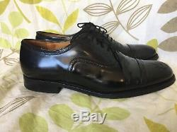 CHURCHES CUSTOM GRADE MENS MADE IN ENGLAND BLACK SHOES SIZE 8.5 Uk 85 F