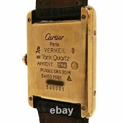 Cartier Women'S Dress Watch 590005 Mast Tank Vermeille Secondhand Grade No. 54