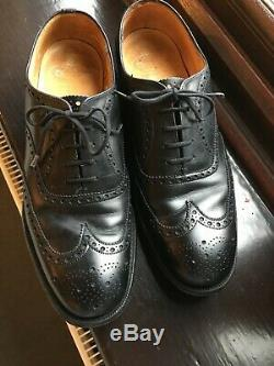 Charles Church Men's Black Brogues, custom Grade, Size 8. Worn little